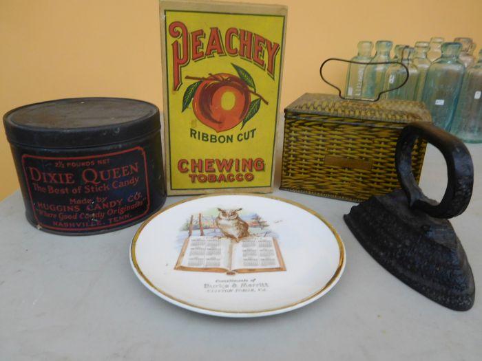Ralph Van Brocklin Estate- Bottles- Post and Trade cards--Mini Jugs and other advertising - DSCN9661.JPG